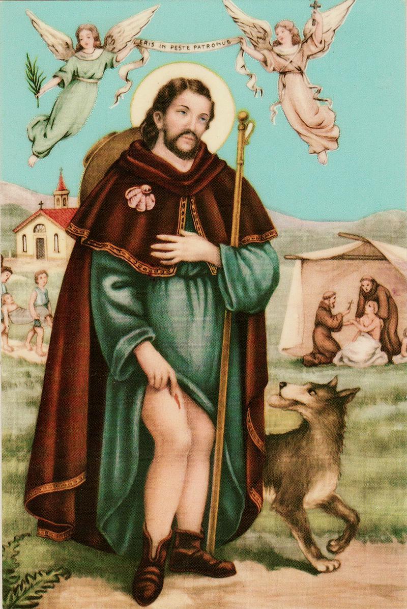 sant-roch et son chien